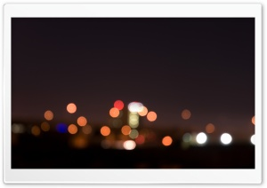 City Night Lights Bokeh HD Wide Wallpaper for Widescreen