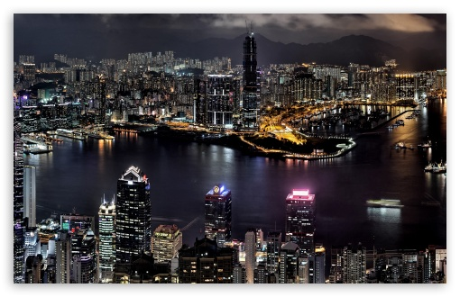 City Night View HD wallpaper for Wide 16:10 5:3 Widescreen WHXGA WQXGA WUXGA WXGA WGA ; Mobile 5:3 - WGA ;