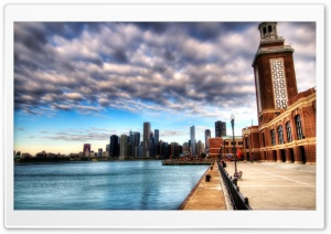 City Pier HD Wide Wallpaper for 4K UHD Widescreen desktop & smartphone