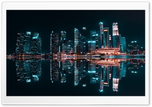 City Reflection, Night Ultra HD Wallpaper for 4K UHD Widescreen desktop, tablet & smartphone