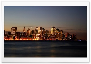City Skyline At Dawn HD Wide Wallpaper for Widescreen