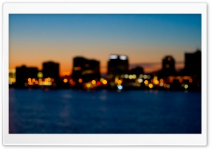 City Skyline Bokeh HD Wide Wallpaper for Widescreen