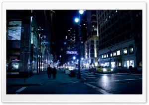 City Street Night HD Wide Wallpaper for Widescreen