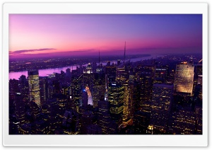 City Sunset HD Wide Wallpaper for Widescreen