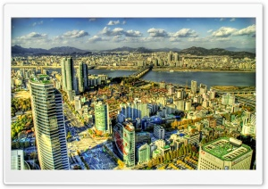City Top View HDR HD Wide Wallpaper for Widescreen