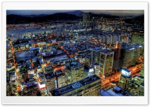 City Top View HDR 1 HD Wide Wallpaper for Widescreen