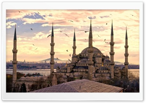 City Turkey Istanbul Sultan Ahmet Mosque HD Wide Wallpaper for 4K UHD Widescreen desktop & smartphone