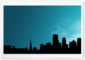 City Vector HD Wide Wallpaper for Widescreen