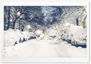 City Winter HD Wide Wallpaper for Widescreen
