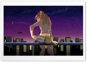 Cityscape Anime HD Wide Wallpaper for Widescreen