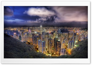 Cityscape HDR HD Wide Wallpaper for Widescreen