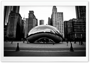 Cityscape Skyline Chicago Sculpture HD Wide Wallpaper for Widescreen