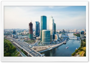Cityscape Tilt Shift HD Wide Wallpaper for Widescreen