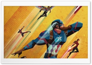 Civil War Artwork Captain America HD Wide Wallpaper for 4K UHD Widescreen desktop & smartphone