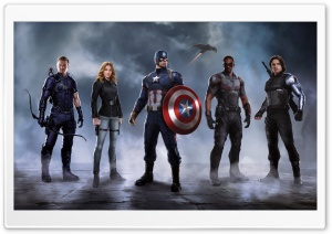 Civil War Captain America Team HD Wide Wallpaper for Widescreen