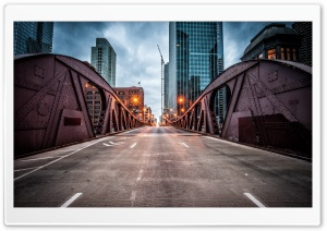 Clark Street Bridge, Chicago HD Wide Wallpaper for 4K UHD Widescreen desktop & smartphone
