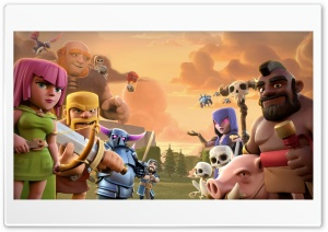 Clash Of Clans HD Wide Wallpaper for 4K UHD Widescreen desktop & smartphone