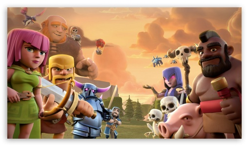 Clash Of Clans 4k Hd Desktop Wallpaper For 4k Ultra Hd Tv