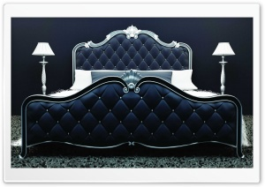 Classic Black Bed HD Wide Wallpaper for 4K UHD Widescreen desktop & smartphone
