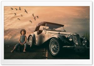 Classic Car, Road Ultra HD Wallpaper for 4K UHD Widescreen desktop, tablet & smartphone