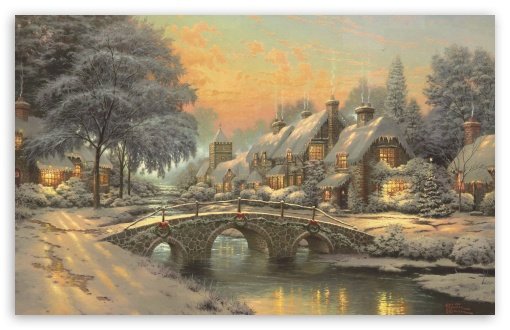 Classic Christmas Painting by Thomas Kinkade HD wallpaper for Wide 16:10 5:3 Widescreen WHXGA WQXGA WUXGA WXGA WGA ; HD 16:9 High Definition WQHD QWXGA 1080p 900p 720p QHD nHD ; Standard 4:3 5:4 3:2 Fullscreen UXGA XGA SVGA QSXGA SXGA DVGA HVGA HQVGA devices ( Apple PowerBook G4 iPhone 4 3G 3GS iPod Touch ) ; Tablet 1:1 ; iPad 1/2/Mini ; Mobile 4:3 5:3 3:2 16:9 5:4 - UXGA XGA SVGA WGA DVGA HVGA HQVGA devices ( Apple PowerBook G4 iPhone 4 3G 3GS iPod Touch ) WQHD QWXGA 1080p 900p 720p QHD nHD QSXGA SXGA ;
