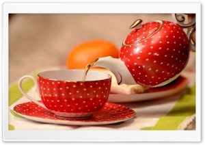 Classic Cup Of Tea And Teapot HD Wide Wallpaper for Widescreen