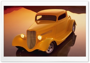 Classic Hot Rod Car HD Wide Wallpaper for Widescreen