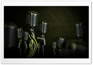 Classic Microphones HD Wide Wallpaper for Widescreen