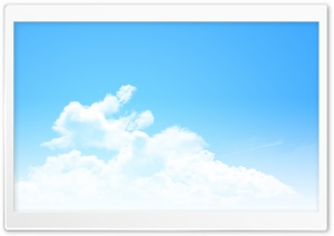 Clear Blue Sky Panorama HD Wide Wallpaper for Widescreen