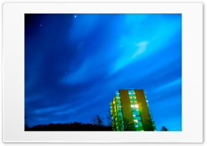 clear blue sky with stars Ultra HD Wallpaper for 4K UHD Widescreen desktop, tablet & smartphone
