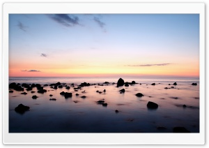 Clear Horizon, Evening HD Wide Wallpaper for Widescreen