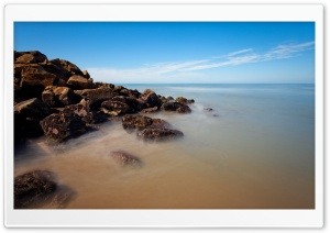 Clear Sea Horizon HD Wide Wallpaper for Widescreen