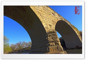 Clements Stone Arch Bridge HD Wide Wallpaper for Widescreen
