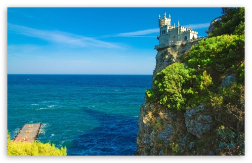 Cliff Top Castle Swallows Nest Crimea HD wallpaper for Wide 16:10 5:3 Widescreen WHXGA WQXGA WUXGA WXGA WGA ; HD 16:9 High Definition WQHD QWXGA 1080p 900p 720p QHD nHD ; UHD 16:9 WQHD QWXGA 1080p 900p 720p QHD nHD ; Standard 4:3 5:4 3:2 Fullscreen UXGA XGA SVGA QSXGA SXGA DVGA HVGA HQVGA devices ( Apple PowerBook G4 iPhone 4 3G 3GS iPod Touch ) ; Tablet 1:1 ; iPad 1/2/Mini ; Mobile 4:3 5:3 3:2 16:9 5:4 - UXGA XGA SVGA WGA DVGA HVGA HQVGA devices ( Apple PowerBook G4 iPhone 4 3G 3GS iPod Touch ) WQHD QWXGA 1080p 900p 720p QHD nHD QSXGA SXGA ; Dual 16:10 5:3 16:9 4:3 5:4 WHXGA WQXGA WUXGA WXGA WGA WQHD QWXGA 1080p 900p 720p QHD nHD UXGA XGA SVGA QSXGA SXGA ;