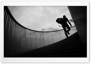 Climbing Stairs HD Wide Wallpaper for Widescreen
