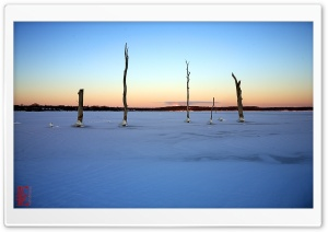 Clinton Lake Frozen Photography HD Wide Wallpaper for Widescreen