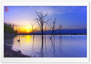 Clinton Lake Scene HD Wide Wallpaper for Widescreen
