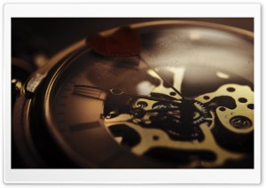 Clock Mechanism HD Wide Wallpaper for Widescreen