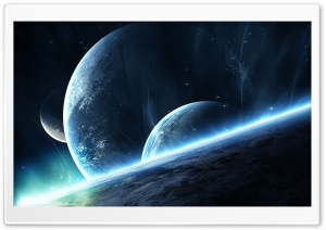 Close Planets HD Wide Wallpaper for Widescreen