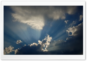 Cloud And Sunbeam HD Wide Wallpaper for Widescreen