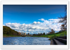 Cloud Cover Over The Oto River HD Wide Wallpaper for Widescreen