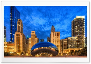 Cloud Gate, Chicago, Illinois, United States HD Wide Wallpaper for Widescreen
