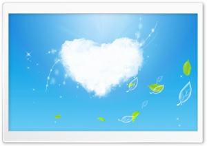 Cloud Heart HD Wide Wallpaper for 4K UHD Widescreen desktop & smartphone