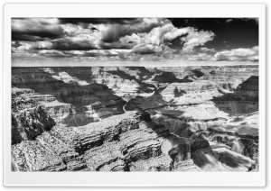 Cloud Shadows, Grand Canyon, Black and White Ultra HD Wallpaper for 4K UHD Widescreen desktop, tablet & smartphone