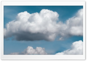 Clouds - Dark Blue Sky HD Wide Wallpaper for Widescreen