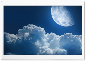Clouds And Moon HD Wide Wallpaper for 4K UHD Widescreen desktop & smartphone