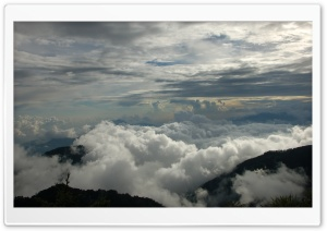 Clouds And Mountains HD Wide Wallpaper for Widescreen