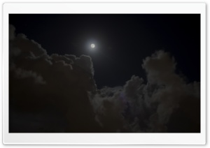 Clouds and The Moon HD Wide Wallpaper for Widescreen