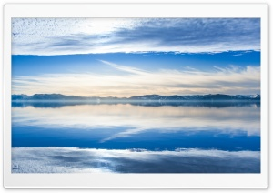 Clouds, Blue Sky, Lake Reflection Ultra HD Wallpaper for 4K UHD Widescreen desktop, tablet & smartphone