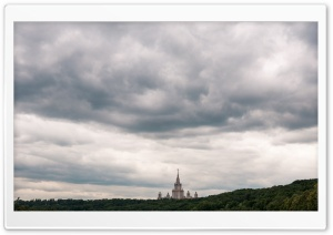 Clouds Over Moscow HD Wide Wallpaper for 4K UHD Widescreen desktop & smartphone